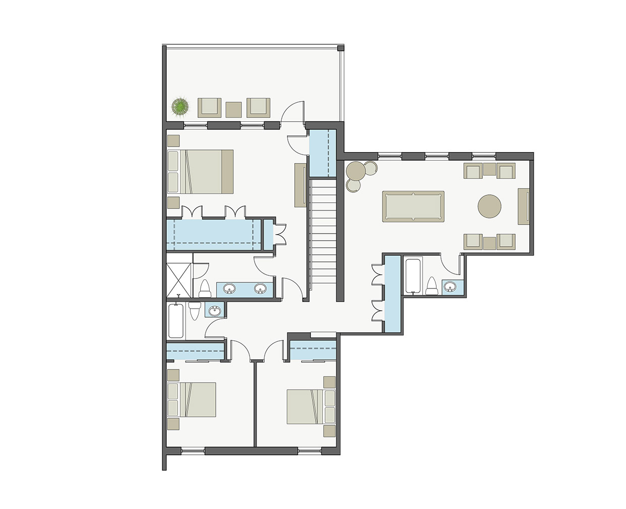 Waterfront townhomes periwinkle grand cayman a for 4200 sq ft house plans